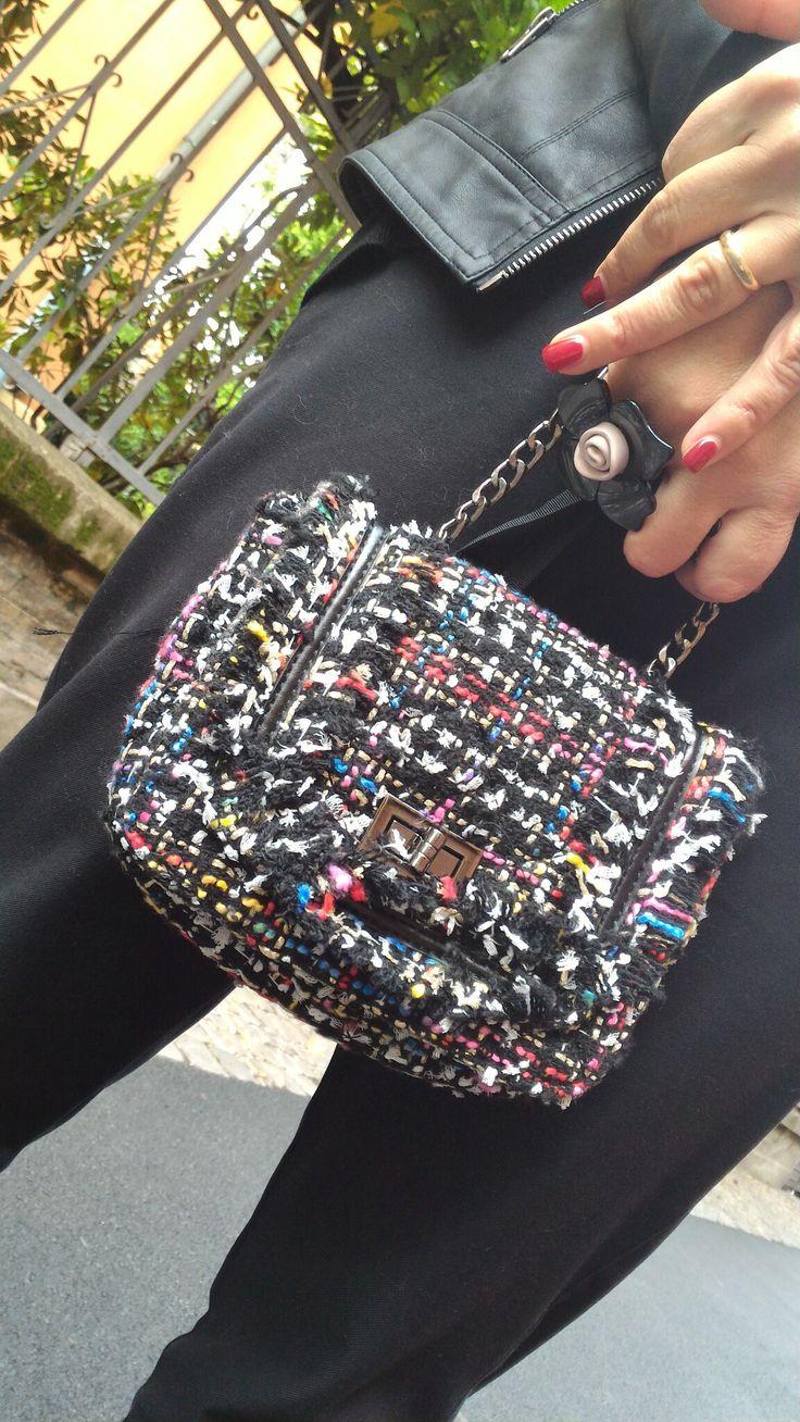 Bon ton lady, Chanel inspired bag available on Rosavelvet.com.