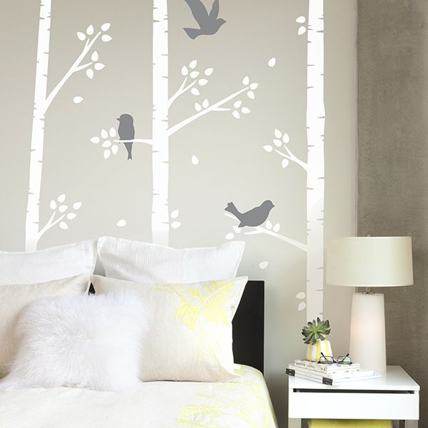 57 best removable wall decals images on pinterest removable wall birch birds wall decals from paper riot co gumiabroncs Images