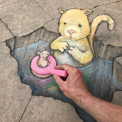 David Zinn in Peace Center, Greenville, USA, 2017
