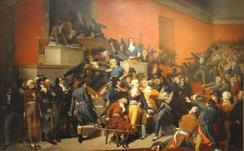 NUEVE DE THERMIDOR,  Oleo sobre Tela 165 x 260 cm Museo Nacional de Bellas Artes