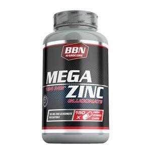 Die BBN Hardcore Mega Zinc Kapseln enthalten 25 mg Zink pro Kapsel. Als Zinkverbindung wird das Zinkgluconat verwendet, welches eine organische Zinkverbindung ist.