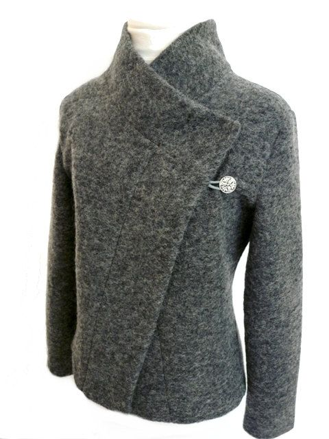 Women boiled wool Jacket size XsL by RosenrotMode on Etsy, €119.00