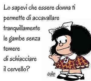 Vignetta mafalda essere donna