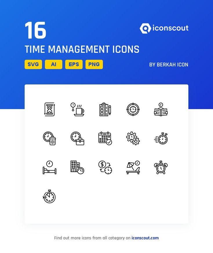Download Time Management Icon Pack Available In Svg Png Eps Ai Icon Fonts Icon Pack Time Management Icon