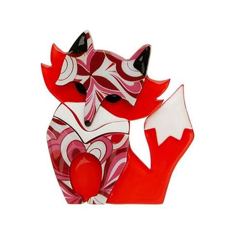 "Erstwilder Limited Edition Fleur the Foxy Flame Brooch. ""Fleur is aware that much like the brightest of flames her foxy good looks can only burn for so long. """