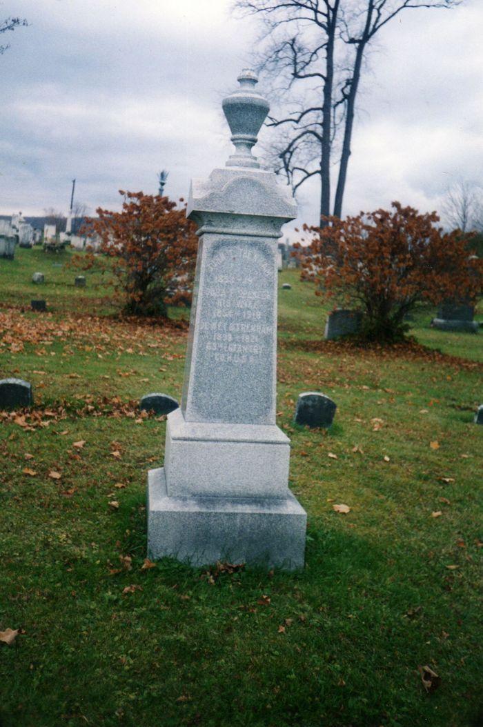 Grave of John T Trenham, Cora Spencer and son Dewey at Talcottville Village Cemetery