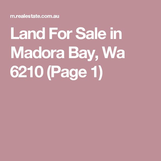 Land For Sale in Madora Bay, Wa 6210 (Page 1)