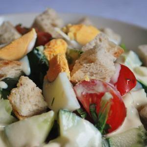Vegetáriánus cézár saláta - Megrendelhető itt: www.Zmenu.hu - A vizuális ételrendelő.