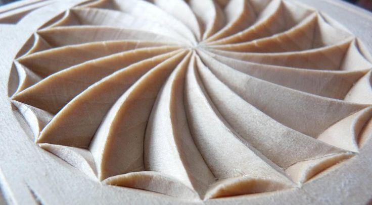Basswood box swirl rosette by marty leenhouts https