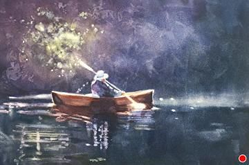 Jane in the light by Sarah Yeoman Watercolor ~ 14 x 21