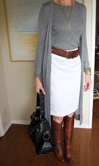 beverly like hills: fashion after 40...like for fall with maybe reversing with black pencil skirt