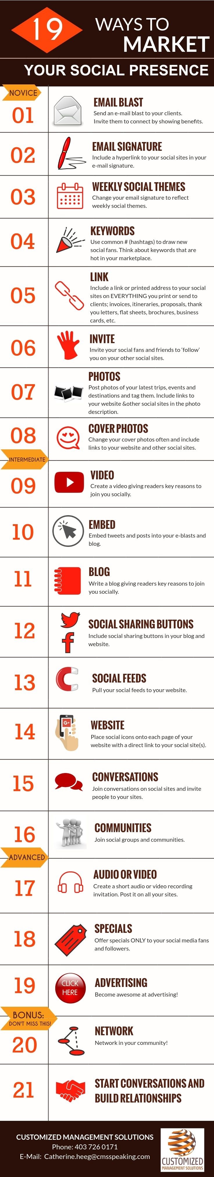 19 ways to market your on line social presence.  Video marketing, email  marketing and networking form the basis of your content marketing  strategy. (scheduled via http://www.tailwindapp.com?utm_source=pinterest&utm_medium=twpin)