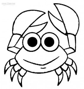 cute crab coloring pages - Cute Ocean Animals Coloring Pages