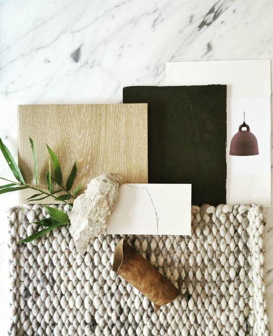 Mood board interior design material for Interior design materials list