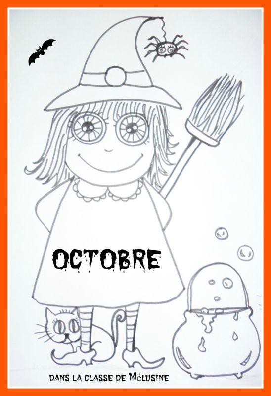 Coloriage d'octobre