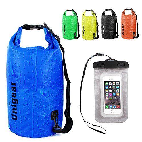 Dry Bag Sack, Waterproof Floating Dry Gear Bags for Boating, Kayaking, Fishing, Rafting, Swimming, Camping, Canoeing and Snowboarding with Free Bonus Universal Waterproof Phone Case Bag