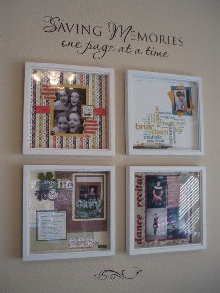 Display scrapbook pages
