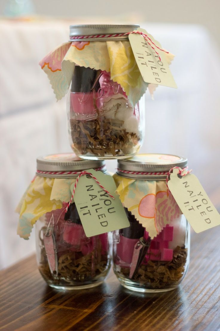Baby Gift Jars : Wright by me you nailed it manicure set in a mason jar