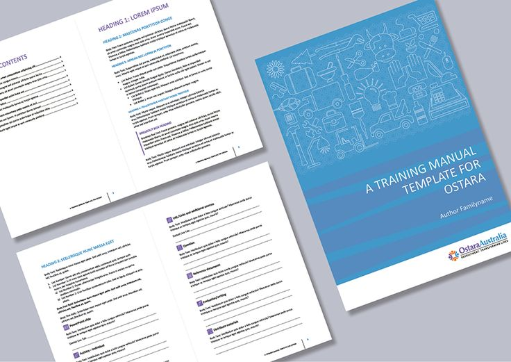26 best Training Manual Design images on Pinterest Creativity - sample training manual template