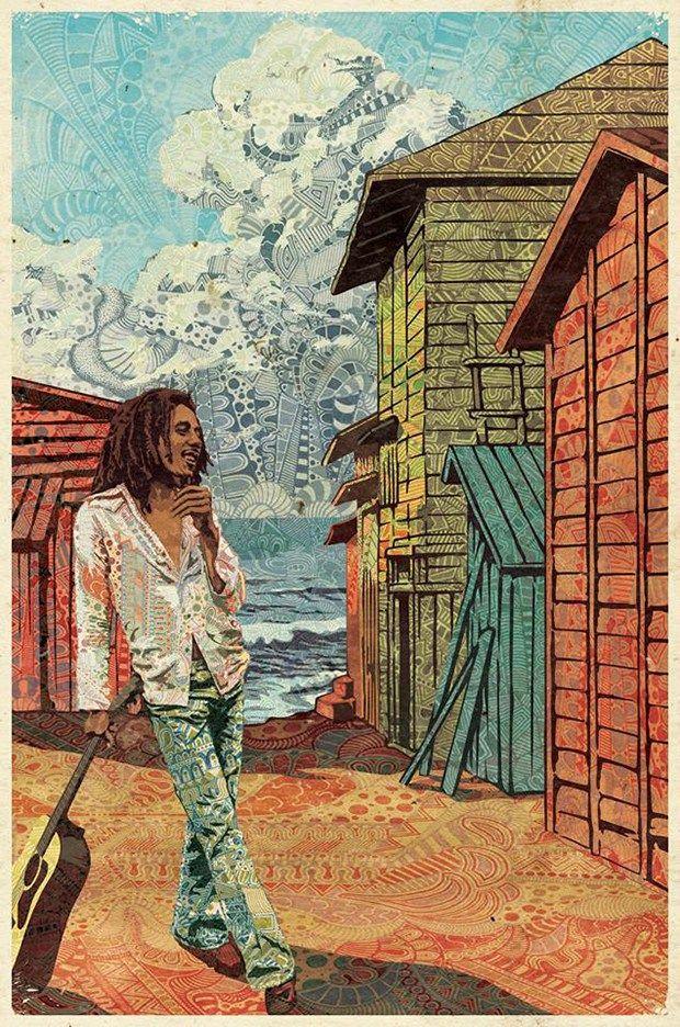 ilustração estampa cores Luís Alves