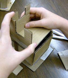 Zilker Elementary Art Class: Fourth Grade Artists build house sculptures.