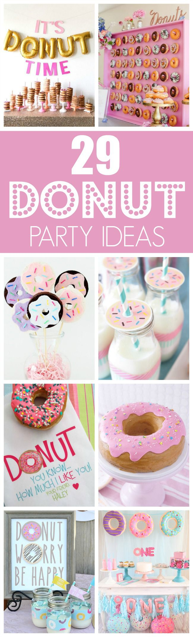 29 Fantastic Donut Themed Party Ideas featured on Pretty My Party