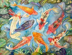 Eileen Ormiston: Koi Pond