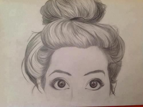 messy bun drawing art inspiration