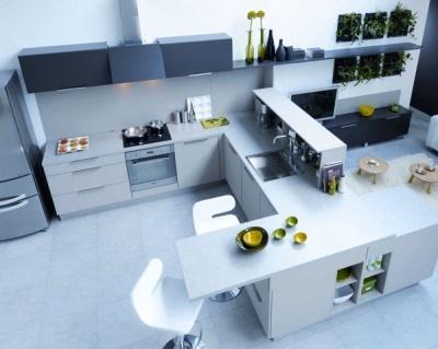 Cuisine confluence de cuisinella living spaces for Cuisinella light