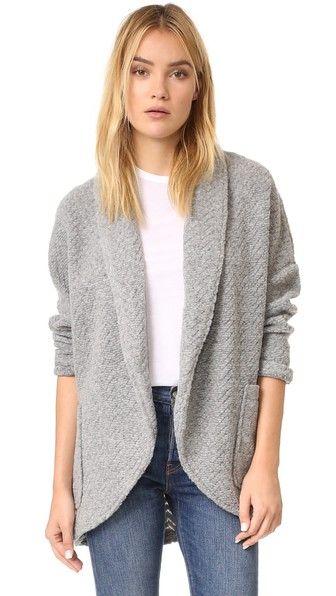BB Dakota | Rhonchesta Knit Cocoon Jacket in medium heather grey