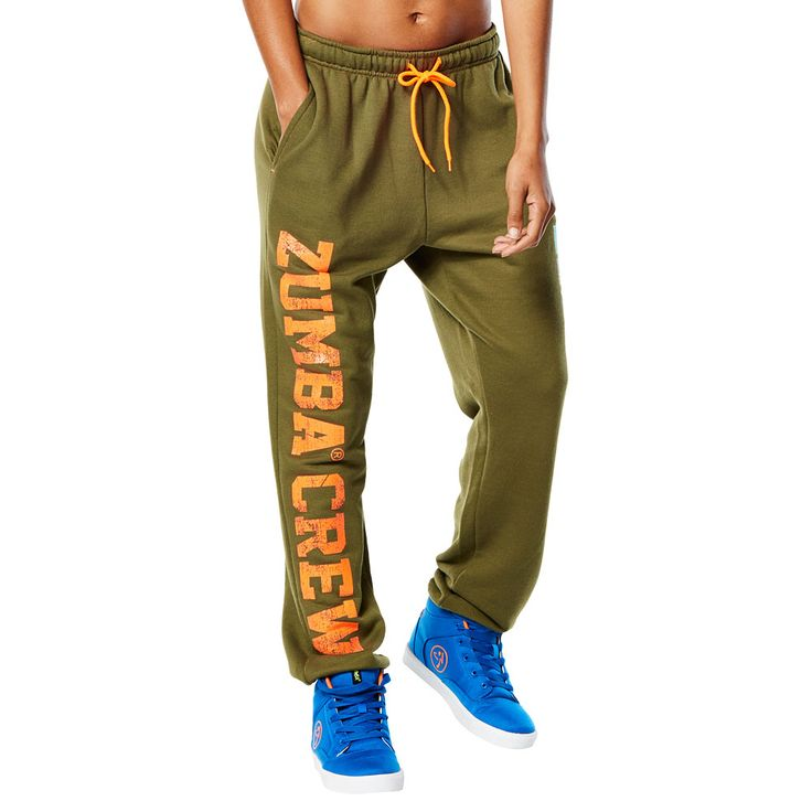 ZUMBA CREW SWEATPANTS - ARMED AND READY ---------------- Travel the world in the Zumba Crew Sweatpants! Featuring an adjustable drawcord at the waistband, ribbed cuffs and front side pockets, these comfy sweats are made to move in.  Zumba sweatpants, Gym, Workout, Fitness, Dance.