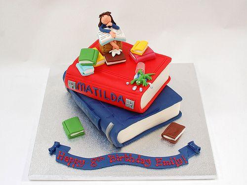 Roald Dhal's Matilda themed birthday cake