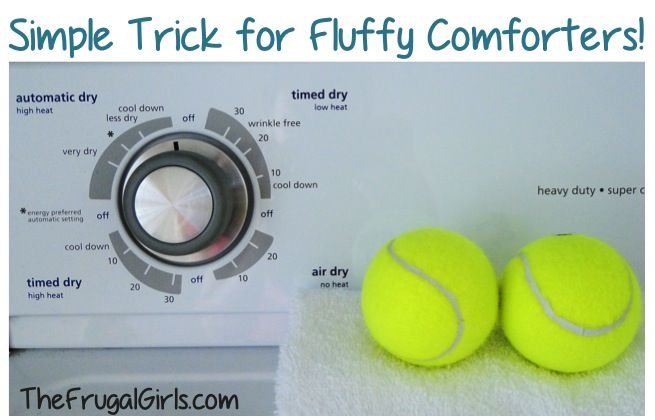 The Easiest Trick for Fluffy Comforters! ~ at TheFrugalGirls.com {plus MORE Homemade Cleaners and DIY Tips!} #thefrugalgirls