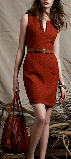 pretty rust red quilted dress, my #anthrofave http://rstyle.me/n/qu2nhr9te