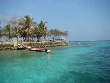 Isla del Rosario in Cartagena, Colombia