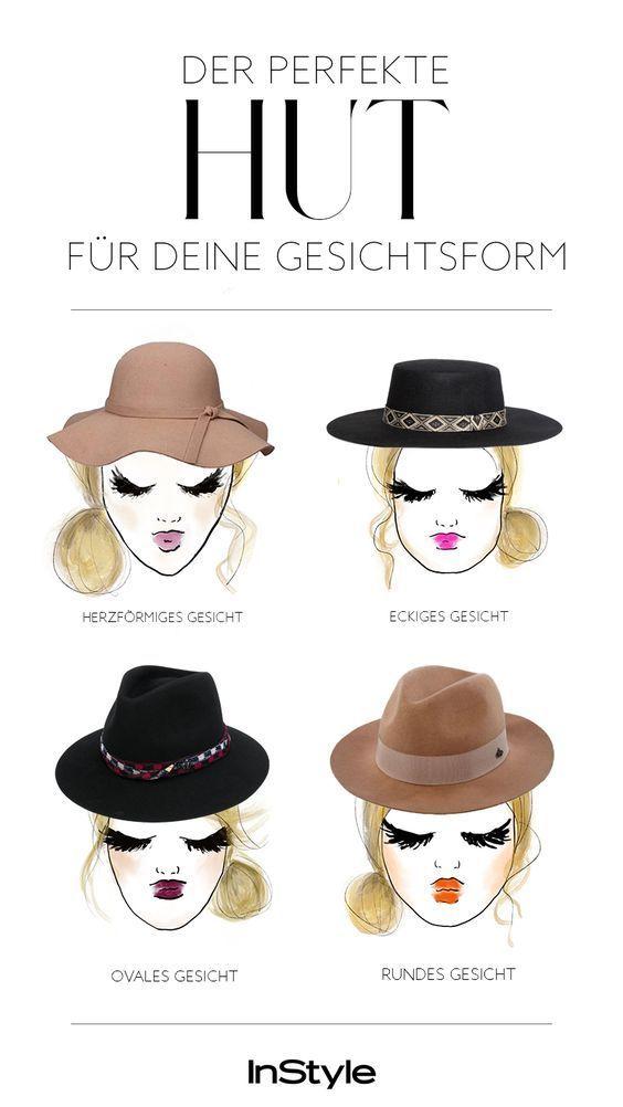 b98ba9a86d7981 Zu verschiedenen Gesichtsformen passen eben auch verschiedene Hüte. Wir  haben uns mal schlau gemacht und für jede Gesichtsform die passende Hutform  gesucht.