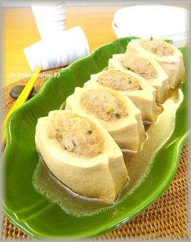 簡単♪ヘルシー高野豆腐の豆腐入り肉詰め煮