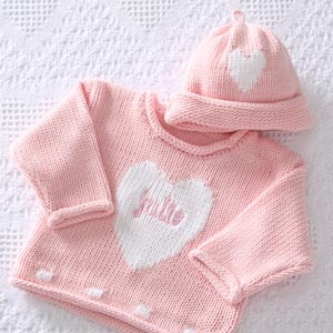 Personalized Baby Sweater and Hat Set - super cute!