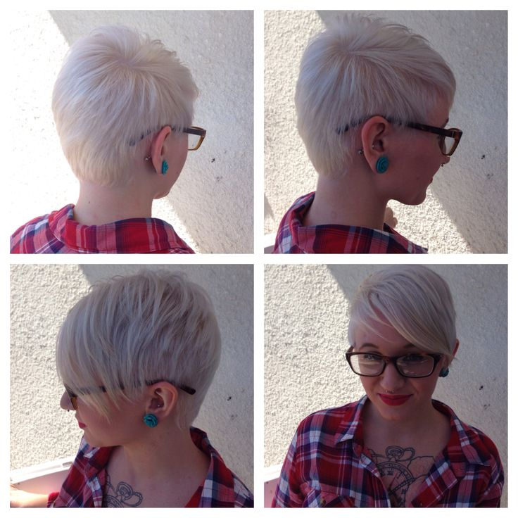 Short Hair Pixie Platinum Blonde Hair Pinterest Short Hair Pixies And Blondes