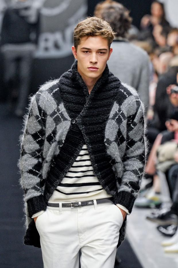 Ermanno Scervino | Men's Fashion | Menswear | Men's Outfit for Fall/Winter | Black, White and Gray | Moda Masculina | Shop at designerclothingfans.com