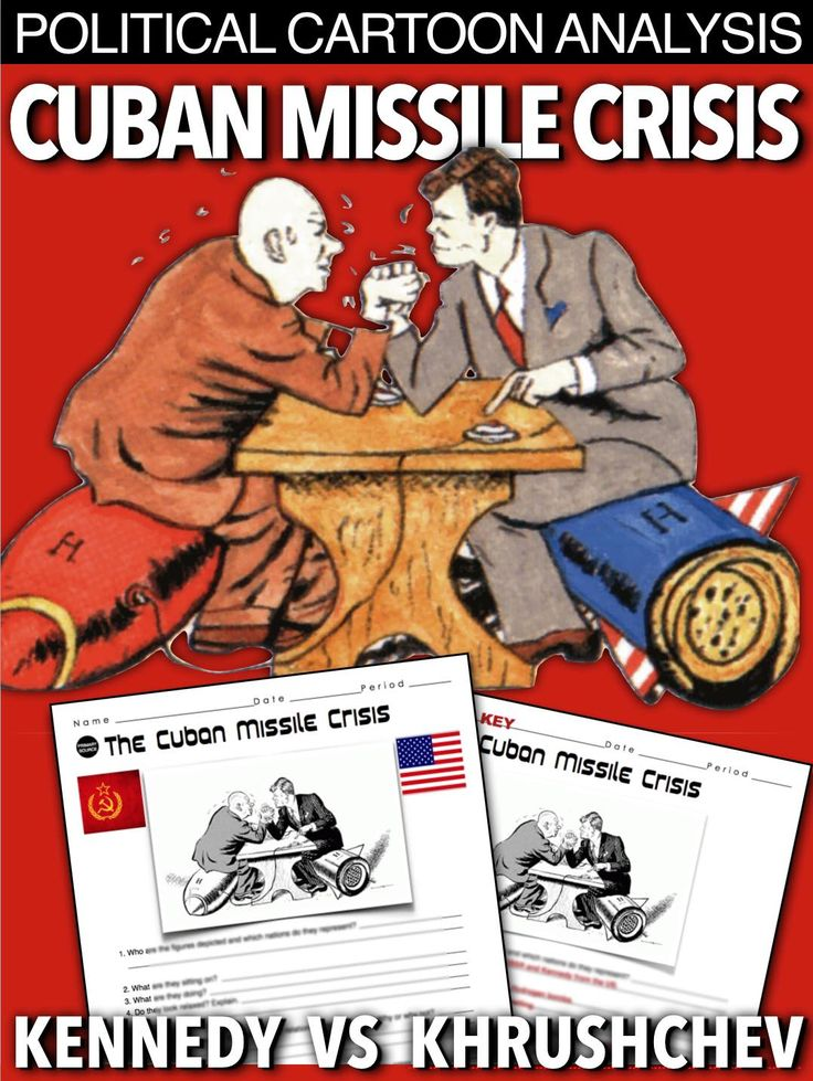 Cuban Missile Crisis Political Cartoon Analysis uses common core investigation to explain the brinksmanship that took place between President Kennedy and Premier Khrushchev. Primary source consists of seven questions that can be used as homework or as substitute teacher plans, as no other resources are needed. A key is included.