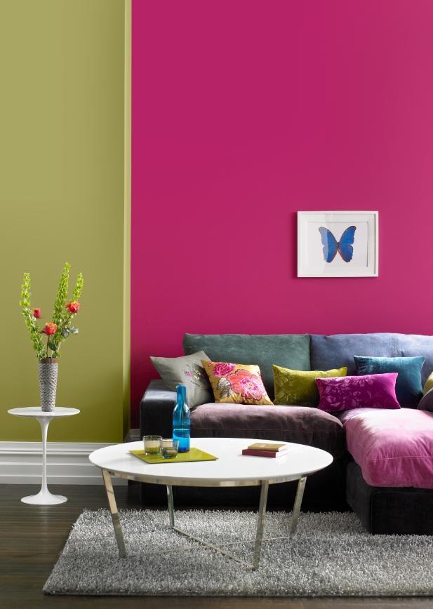 Fuchsia Pink And Sage Colour Scheme