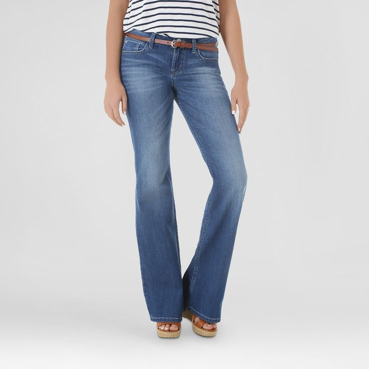 Women's Riverton Flare Modern Oasis 14 Medium - Crafted by Lee, Size: 14 Short, Denim Blue