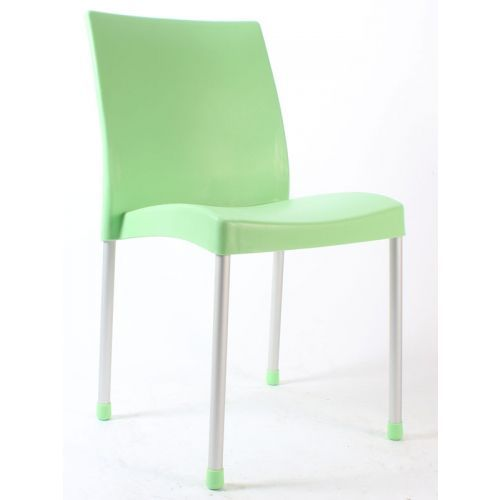 Hira kolsuz plastik sandalye yeşil