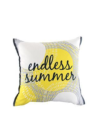 OUR BALCONY IS NICKNAMED THE ISLAND: LETS HAVE AN ENDLESS SUMMER PILLOW AS THE CHERRY ON TOP!