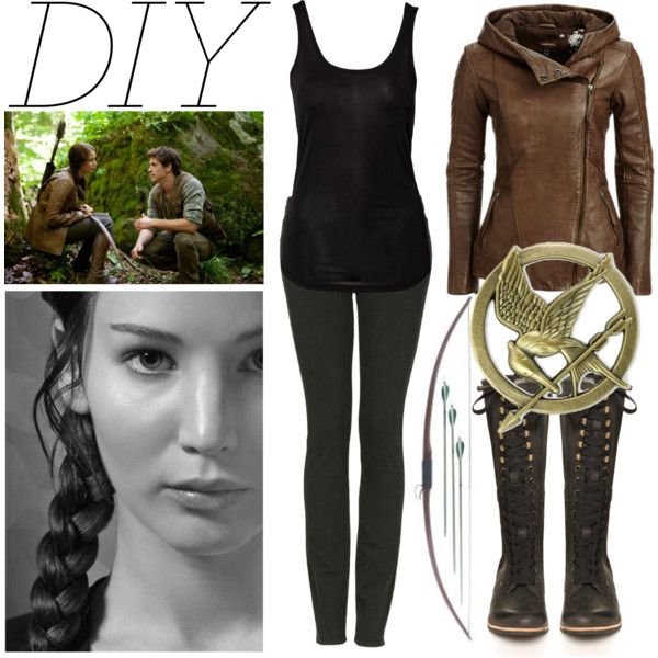 """DIY Katniss Everdeen Costume"" by er18x on Polyvore"