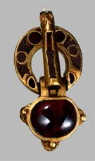 Visigoth Portugal gold and grenades buckle. 5th century A.C.