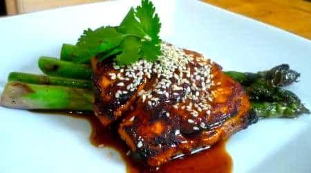 Glazed Salmon, Whiskey Salmon, Sweet Salmon, Grilled Asparagus, Jack Daniels Salmon, Marinated Salmon