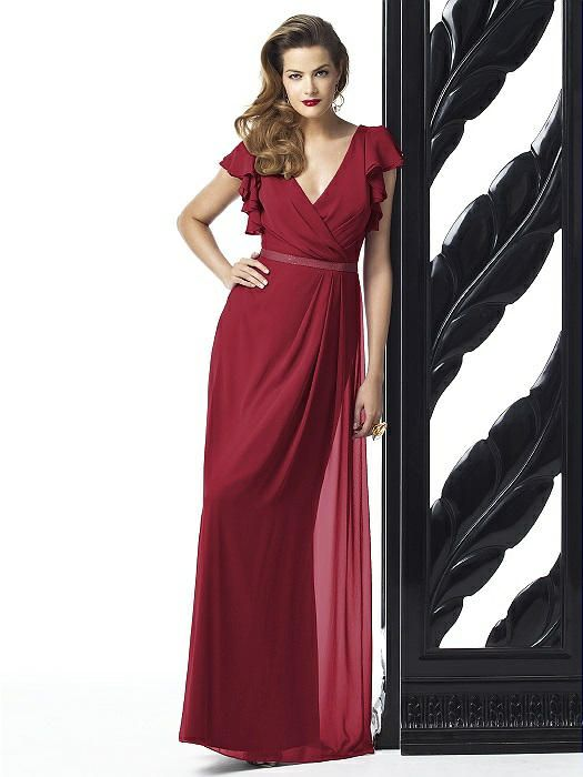 Dessy 2874 Long V-neck Belt http://www.dessy.com/dresses/bridesmaid/2874/