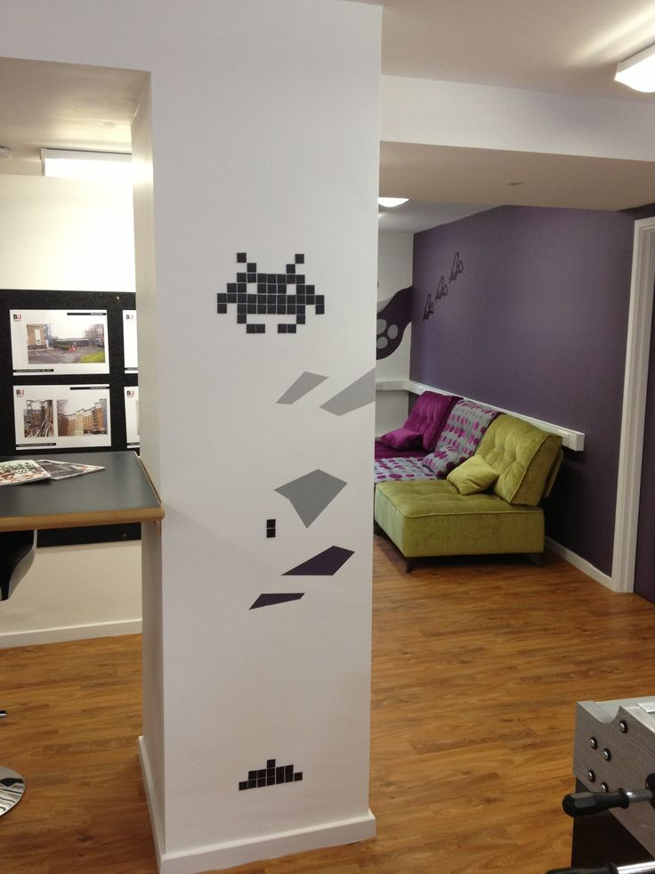 Wall Mural Designed By Illustrator Kevin Scully For Bournemouth University Student Common Room